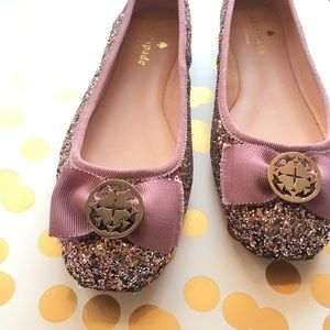 Kate Spade Purple Glittery Flats! 💜✨